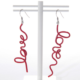 Love Earrings - Red