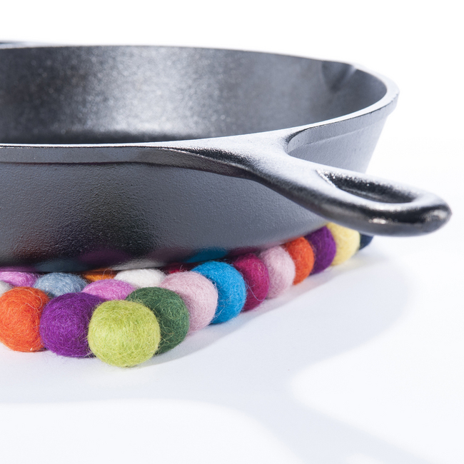Multicolored Felt Trivet
