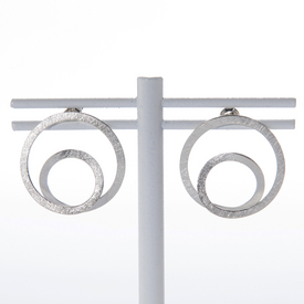Parallel Silver Ring Earrings