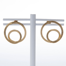 Parallel Gold Ring Earrings