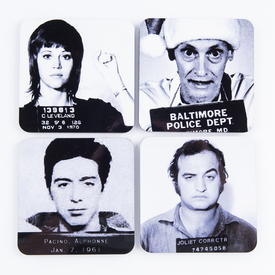 Movie Biz Mug Shot Coaster Set
