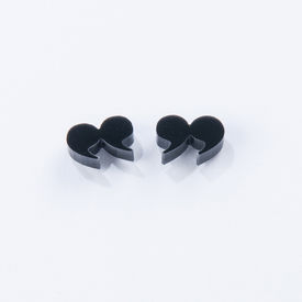 Quote Earrings BLACK