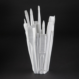 White Brush Vase