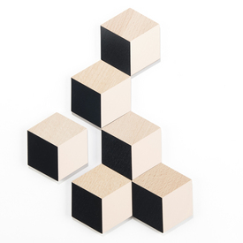 Table Tiles - Black and Beige
