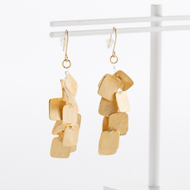 Gold Square Earrings GOLD