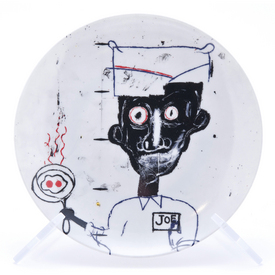 Basquiat Eyes & Eggs Plate