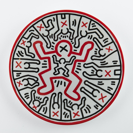 Keith Haring Plate
