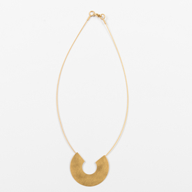Open Circle Necklace GOLD