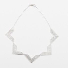 Five Triangles Necklace SILVER