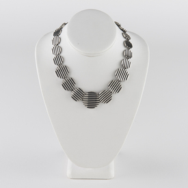Silver Escalator Necklace