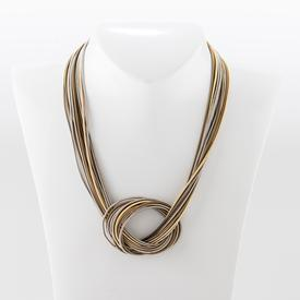 Multi-Tonal Knot Necklace