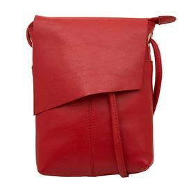 Red Leather Cross-Body Handbag RED