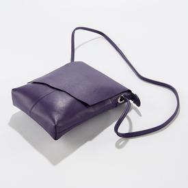 Purple Leather Cross-Body Handbag