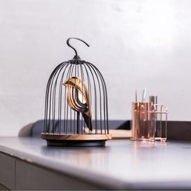 Jingoo Birdcage Speaker and Lamp - Black and Gold BLKGOLD