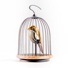 Jingoo Birdcage Speaker and Lamp - Black and Gold