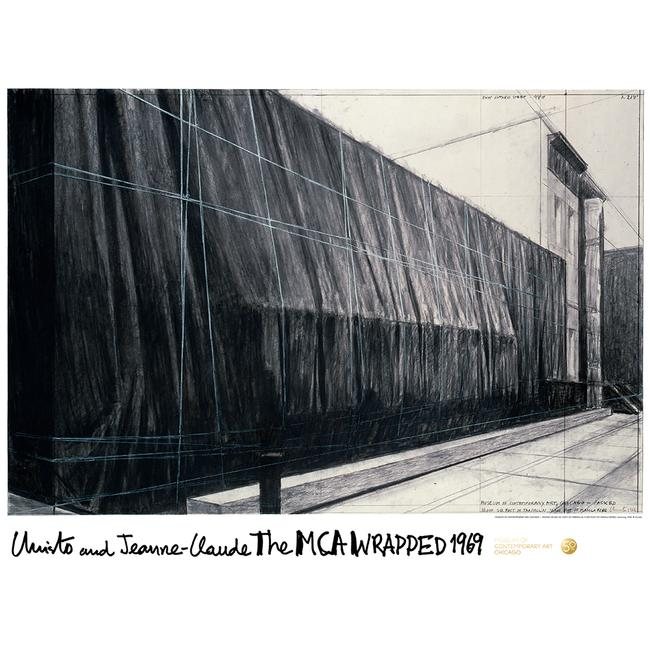 Christo : The Mca Wrapped 1969 Poster - Signed Edition