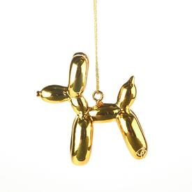 Balloon Puppy Ornament - Gold