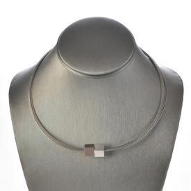 Magnetic Cubes Necklace - Silver/Gunmetal