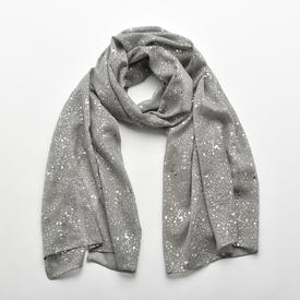 Waterdrops Scarf - Grey Silver