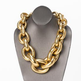 Gold Foil Chain Necklace