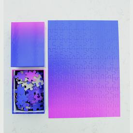 Blue Pink Gradient Puzzle - Small BLUEPINK