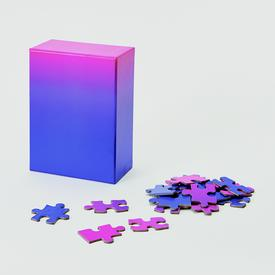 Blue Pink Gradient Puzzle - Small