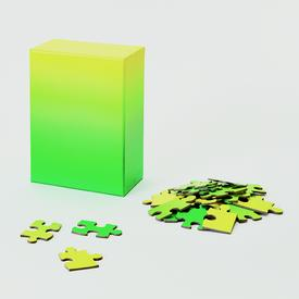 Green Yellow Gradient Puzzle - Small