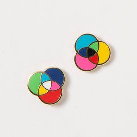 Rgb And Cmyk Earrings