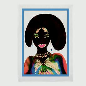 Chris Ofili Afromuses Tea Towel - Woman
