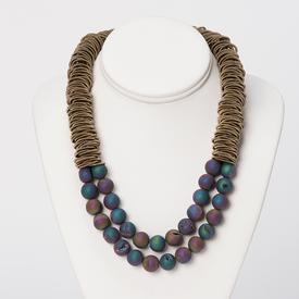 Iridescent Geodes Necklace