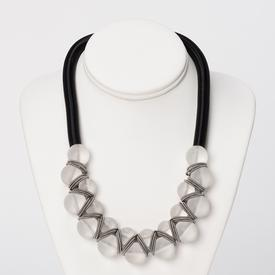Frosted Stacked Beads Necklace