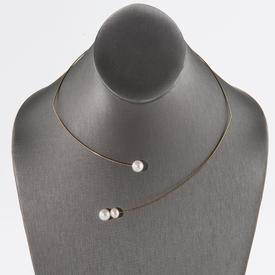 Open Polygon Pearls Necklace