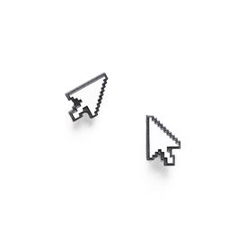 Cursor Earrings BLACK_WHITE