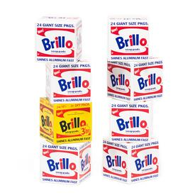 Warhol Brillo Wooden Blocks