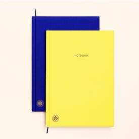 Double Sided Planner and Notebook YELLOW_BLUE