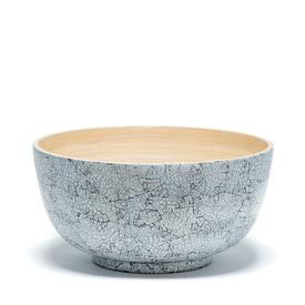 Bamboo and Eggshell Salad Bowl