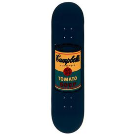Warhol Campbell`s Soup Can Skate Deck - Teal