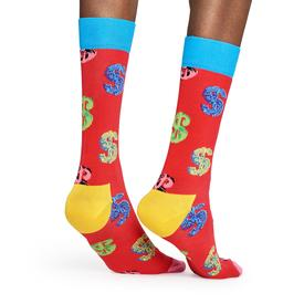 Andy Warhol Dollar Sign Socks - Red