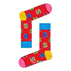 Andy Warhol Dollar Sign Socks - Red RED