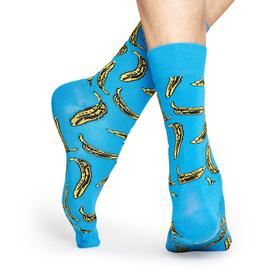 Andy Warhol Banana Socks - Blue