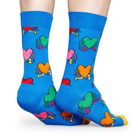 Keith Haring Heart Running Socks