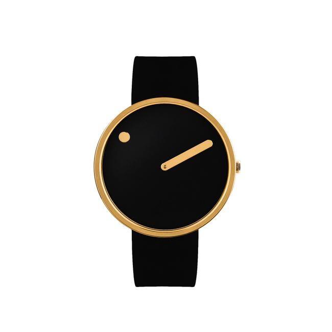 Picto Watch - Black And Gold