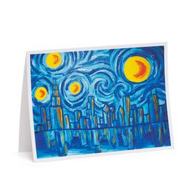 Starry Night Chicago Holiday Cards