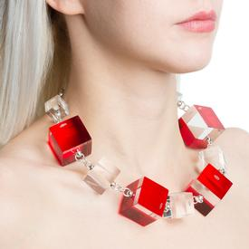 Alternating Cubes Necklace