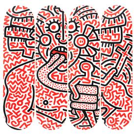 Keith Haring Man and Medusa Skate Decks