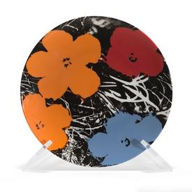Warhol Flowers Plate ORANGE