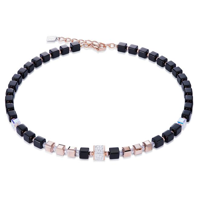 Pavé And Swarovski Crystals Hematite Necklace