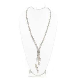 Long Braided Drop Necklace