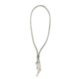 Long Braided Drop Necklace SILVER
