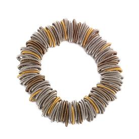 Gold and Silver Loop Bracelet
